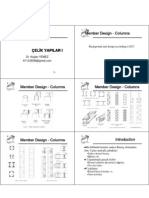 Çelik Yapılar I - Ders 6 - Eleman Tasarımı 2