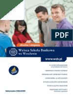 Informator 2014 - Studia I stopnia - Wyższa Szkoła Bankowa we Wrocławiu