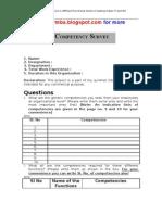 Competency Survey Questionnaire