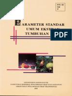 Parameter Standar Umum Ekstrak Tumbuhan Obat