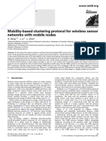 Mobility-based clustering protocol for wireless sensor