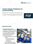 Project Design Limitations in Microtunnelling Workshop