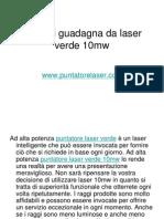 Cosa Si Guadagna Da Laser Verde 10mw