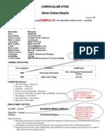 Geologist CV Example
