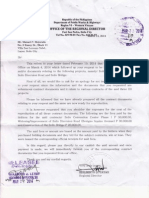 DPWH Regional Director Tayao imposes exorbitant fees for reproduction of documents.