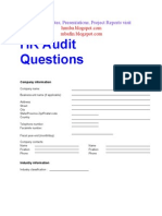 HR Audit Questionnaire
