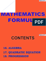 4 Maths Forumulae