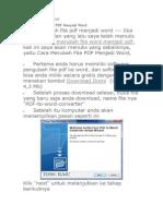 Panduan PDF to Word