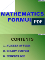 1 Maths Forumulae