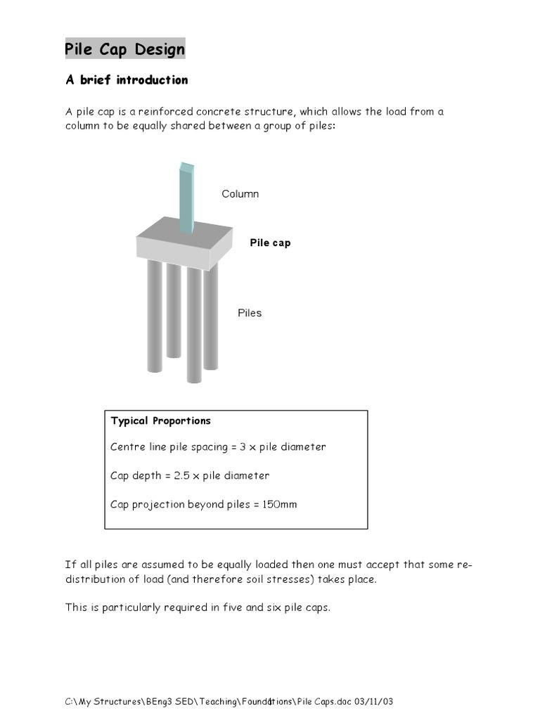 Design of Pile Cap | Fondation profonde | Treillis (assemblage)