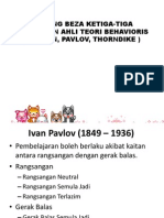 Banding Beza Ketiga-tiga Pandangan Ahli Teori Behavioris (