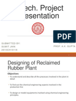 Presentation on Reclaimed Rubber Plant