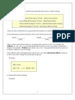 Verb Forms I Ba Grammar Notes
