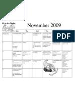November Calendar 2009