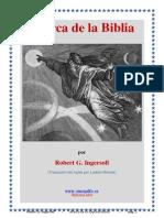 Acerca de La Biblia - Robert G. Ingersoll
