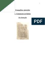 Evangelhos Apócrifos - Testamento de Rubén