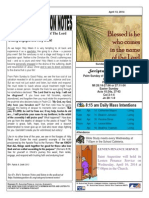 St. Augustine Roman Catholic Church, Sunday Bulletin, April 13, 2014