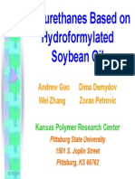 Polyrethanes Based on Hydroformylated Soyabean Oil