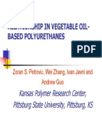 Structure Property Relationship in Vegetable Oil Polyols