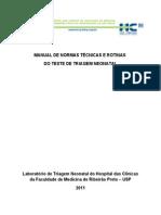 MANUAL DE INSTRUÇÕES DO TESTE DO PEZINHO 2011