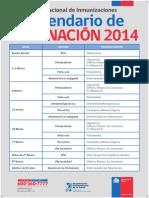 CALENDARIO VACUNACION 2014