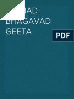 Sri Mad Bhagavad Geeta