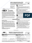 2013 Application for Automatic Extension of Time  To File U.S. Individual Income Tax Return