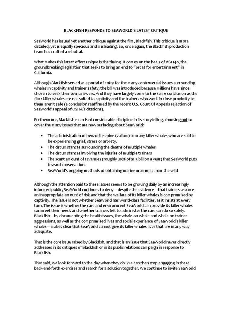 blackfish essay fd
