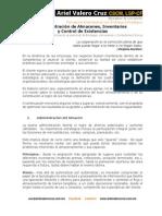 Administración de Almacenes, Inventarios y Control de Existencias
