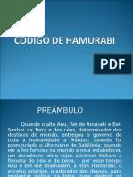 9  e 10 - Código de Hamurabi