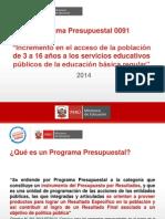 Programa Presupuestal 0091
