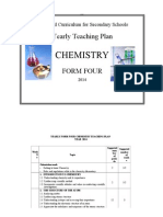 Yearly Lesson Plan for Four 4 Chemistry