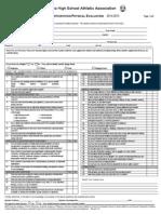 participation forms 2014