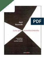 88020952 HONNETH Axel Luta Por Reconhecimento