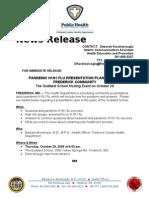 Advisory- H1N1 Presentations- Goddard School