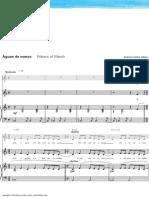 Aguas de Marco, sheet music