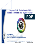 Improve Public Sector Results With BSC