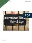 International Literacy Day 2008