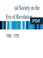 5 - Colonial Society on the Eve of Revolution, 1700 - 1775