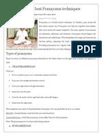 Pranayama Techniques