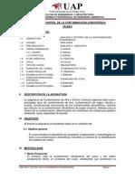 ANALISIS Y CONTROL  DE LA CONTAMINACIÓN ATMOSFÉRICA