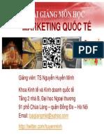 slide marketing quốc tế ftu