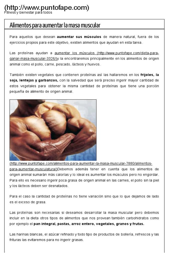 dieta para aventajar masa muscular mujer pdf