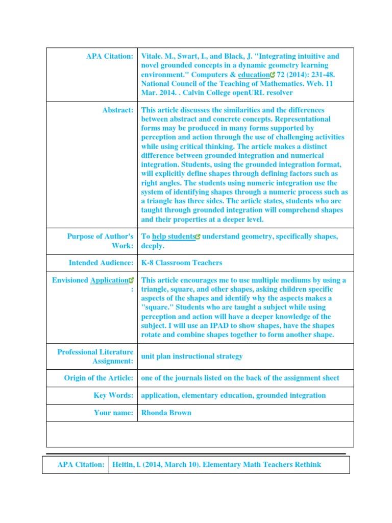 educ 302 professional literature | Common Core State Standards ...