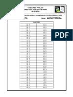Gabarito MPU Analista-Area Arquitetura