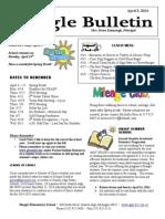 Beagle Elementary School Newsletter April 3, 2014