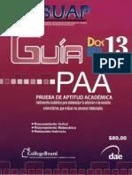 Prueba de Aptitud Academica BUAP 2013
