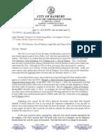 Danbury Response to Foi Request March 24 2014
