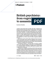 British Psychiatry - From Eugenics to Assassination by Anton Chaitkin