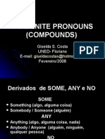 Pronomes Indefinidos Compostos - ingles